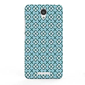 Koveru Designer Printed Protective Snap-On Durable Plastic Back Shell Case Cover for Xiaomi Note 2 - Blue flower Pattern