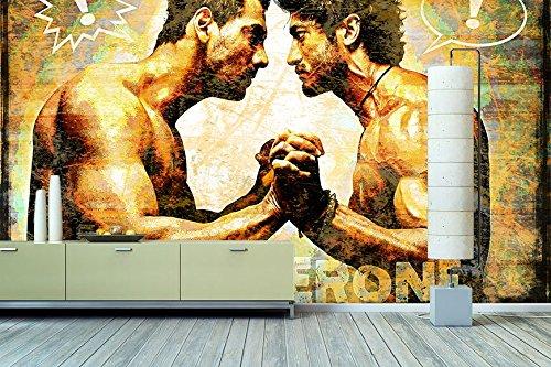 """WandbilderXXL ® Vlies Fototapete\""""Testosterone\"""" 420x280cm - hochwertige Tapete in 6 verschiedenen Größen für Wohnzimmer oder Büro - Foto Tapete - Qualität von Wandbilder XXL"""