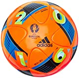 adidas Herren Ball Euro 2016 Winter, Solar Orange/Bright Blue/Night Indigo, 5