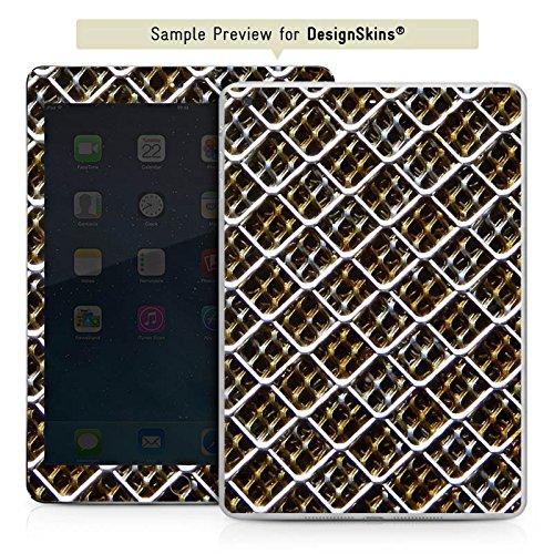 Apple iPad mini 4 Case Skin Sticker aus Vinyl-Folie Aufkleber Maschendraht Zaun Muster Fleck Zaun