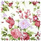 polstereibedarf-online Möbelstoff Flora Eden Rose