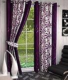 Optimistic Home Furnishing-Wine -Kolaveri -Long Door Curtain-(set of 2)