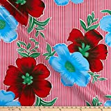 Oil Cloth International 0665446 Oilcloth Mali Pink Fabric