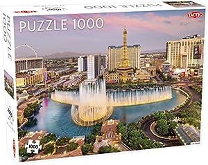 Tactic Las Vegas 1000 pcs Puzzle - Rompecabezas (Puzzle Rompecabezas, Ciudad, Niños, Niño/niña, 9 año(s), Interior)