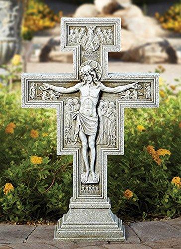 Christian Brands San Damiano Kruzifix für den Garten, 58,4 cm hoch