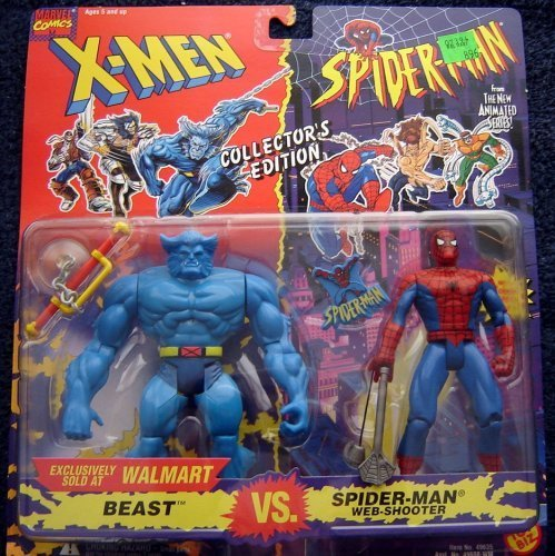 X-Men VS. Spider-Man Exclusive Collector's Edition 2-Pack: Beast VS. Spider-Man (Web-Shooter) by X Men