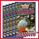 SAHAWA® Frostfutter 5x 100g Blister Rinderherz ,verpackt mit Trockeneis, Zierfischfutter, Süßwasser, Discus, Barsche, Guppys, Rote Mückenlarven (Rinderherz)