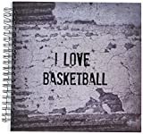 3dRose db_172385_2 I Love Basketball, Bl...
