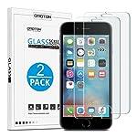 OMOTON Panzerglas Displayschutzfolie kompatibel mit iPhone 6s und iPhone 6, 9H Härte, Anti-Kratzen, Anti-Öl...