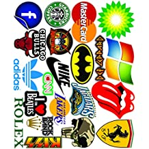 Elton 3M Vinyl Sticker Pack [20-Pcs] Plus Free Bonus Stickers Lovely 3M Vinyl Logo & Assorted - 1 Stickers For Laptop, Cars, Motorcycle, PS4. X Box One . Guitar Bicycle, Skateboard, Luggage - Waterproof Random Sticker Pack
