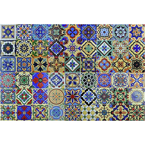 """Art3d Talavera Fliesen, mexikanisches Design, 30,5 x 30,5 cm, 6 Stück 12\""""x12\"""" (6 Tiles) Talavera 1"""
