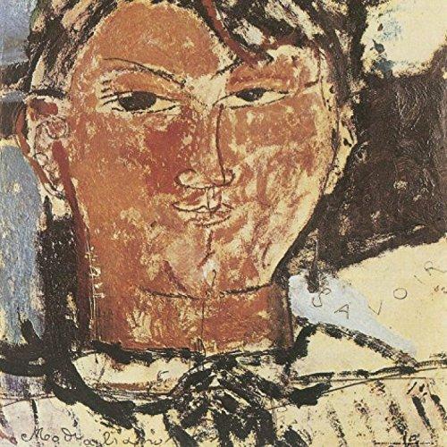 1art1 58478 Amedeo Modigliani - Bildnis Pablo Picasso, 1915, Detail Poster Kunstdruck 40 x 40 cm -