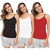 pietra women cotton camisole with Adjustable strap basic seamless camisole with 4 way stretch PACK OF 3