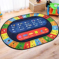 USTIDE Playmat Kids Rug ABC Alphabet Numbers&Shapes Educational Area Rug 3