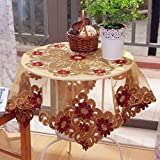 *ropa de cocina Manteles de bordado Mesa de centro de mesa redonda Mesa de mantel Mantel Kinshasa Vacío ( Tamaño : 145*145cm )