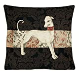 BelgianTapestries Edle Kissenhülle, Zierkissenhülle 45 X 45 Greyhound Gobelin Cushion (Greyhound Walking)