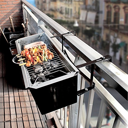 Thumbs Up UK balbbq Balkon Holzkohle BBQ–Schwarz