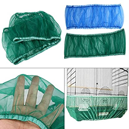 Estink Soft Ventilated Mesh Pet Bird Cage Seed Catcher Guard Cover Shell Skirt Decoration (White) 4