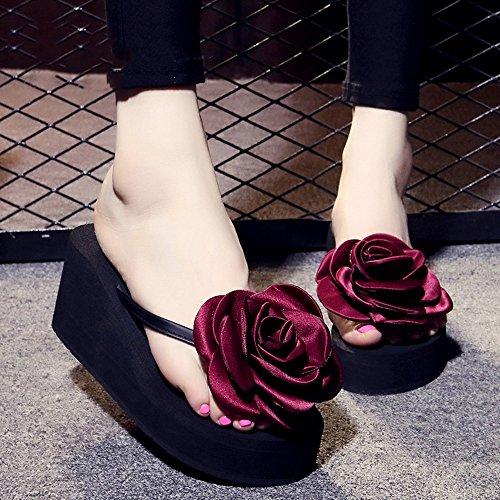 Estate Sandali Pattini antisdrucciolevoli delle scarpe da spiaggia delle pistole di modo di estate femminile Pattini di fiore handmade di modo per 18-40 anni Colore / formato facoltativo 1001
