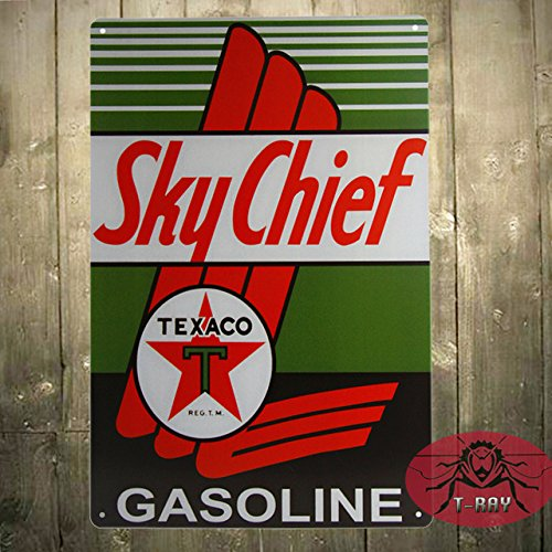 Vintage Texaco Sky Chief segno PETROX suprema di porcellana Benzina Gas Station