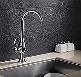 ETERNAL QUALITY Badezimmer Waschbecken Wasserhahn Messing Hahn Waschraum Mischer Mischbatterie Küchenarmatur Titan Messing Wasserventil Mischen von warmen und kalten Geri