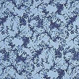 Fabulous Fabrics Softshell Blätter&Camouflage – blau —