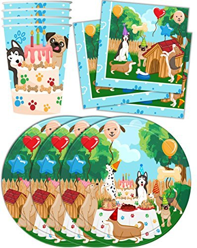 Birthday Party Supplies Set Plates Napkins Cups Kit for 16 by Birthday Galore ()
