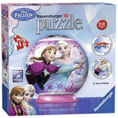 Idea Regalo - Ravensburger 12173 - Disney Frozen Puzzle 3D Ball