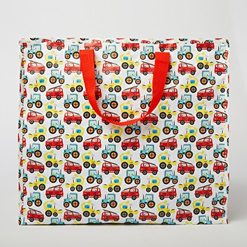 Sass and Belle Illustrated Trucks Storage Bag by B4E