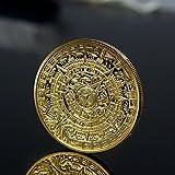 Collection de pièces de monnaie commémorative de la collection maya aztèque maya plaqué or...