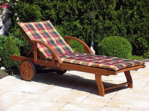Grasekamp Auflage Gartenliege Karo Liegestuhl Sonnenliege Relaxliege