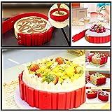 MagicHome 4pcs Multi-puzzle Moule Silicone DIY Créatifà Gâteau Patisserie Bake Moulds Gâteau Decoration Cuisson