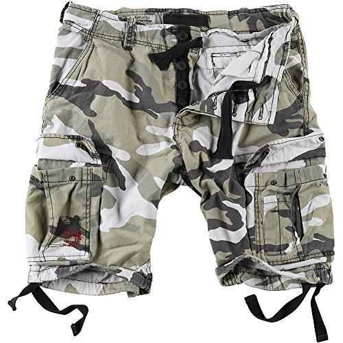 Surplus Hombres Airborne Vintage Pantalones Cortos Lavado Urban tamaño M