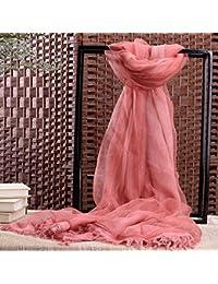 CRL Automne Hiver Foulard Femme Pure Soie Coton Foulard Fille Serviette  Foulard Protection Solaire Couple Chaud 90f8d1db345