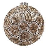 Bonjanvye Soccer Ball Crystal Clutch Purses Handbags For Women Bags-Or