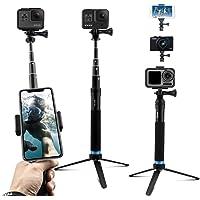AuyKoo Pole Ausziehbar Selfie Stick, Handheld Wasserdicht Teleskop Stange, Reisen Einbeinstativ Stativ Halterung Ständer…