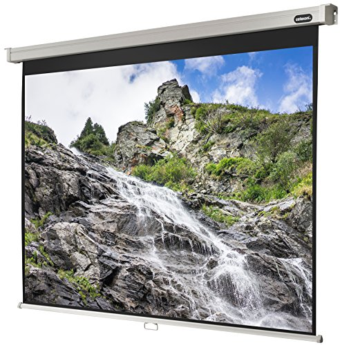 Celexon Rollo Professional Canvas   Format 4  3    Area 240  x 180  cm Projector Wall Suitable for any project Ortyp as Full HD and 3D Canvas   Easy to Mount and Good FLATNESS