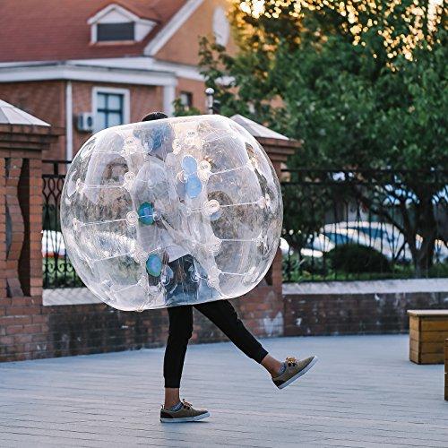 Ambesten 1,2M/ 1,5M Bubble Ball FußballInflatable Bumper Ball Bubble Soccer Ball 0,8 mm PVC Zorbing Ball Blow Up Toy in 5 Min für Kinder Erwachsene (1 Stück x 1,2m)