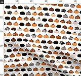 Halloween, Kürbis, Orange, Geometrisch, Herbst, Stoffe -
