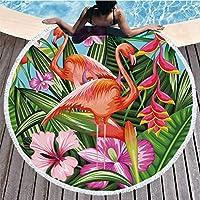 Ocean Bohemio Flamencos Toalla de Playa Toalla de Playa Toalla de Microfibra Toallas de Playa para
