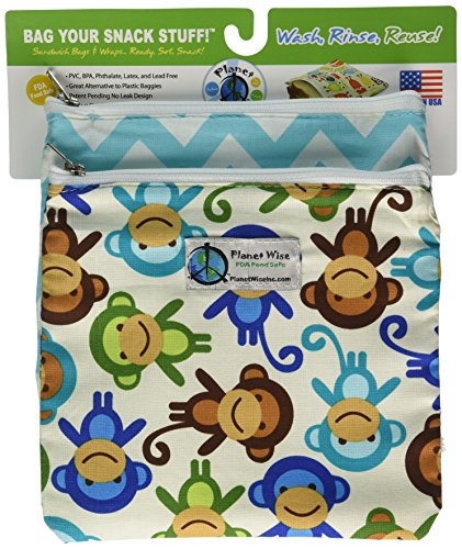 planet-wise-zipper-sandwich-bags-2-count-monkey-fun-teal-chevron-by-planet-wise