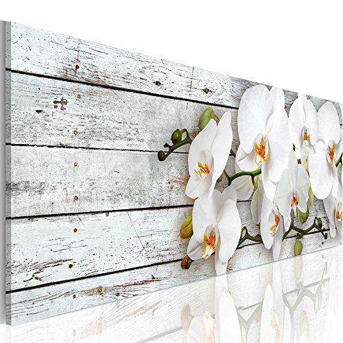 murando - Cuadro 120x40 cm 1 Parte impresión en Material Tejido no Tejido Cuadro de Pared impresión artística fotografía Imagen gráfica decoración Flores - Orquidea b-A-0072-b-d
