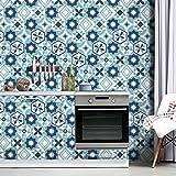 Pag Creative Selbstklebend PVC Tile-Like Vintage Sechskant Aufkleber für die Wohnzimmer Küche Badezimmer Wand Boden Dekorativ Aufkleber 205m (20x 500cm) Hts005