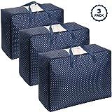 Lifewit Aufbewahrungstasche Unterbett aus Oxford-Gewebe Unterbettkommode für Bettwäsche/Kleidung/Decken/Kissen Faltbar Groß