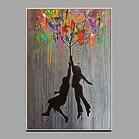 Impression sur Toile,Street Art Graffiti Réplique De Banksy Affiches Abstrait Aquarelle Peintures sur Toile Impression…