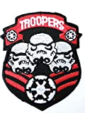 STAR WARS Stormtrooper Shield Storm Trooper Bouclier Iron on Sew On Applique Embroidered Thermocollants Ecusson brode patche Patch 7.5cm