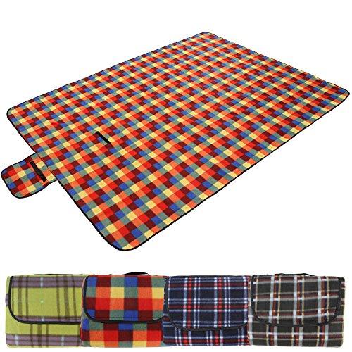 Jago Picknickdecke mit Klettband und Tragehenkel | Outdoor Camping Picknick Matte, 195x150 cm, 100% Polyester | Stranddecke, Outdoordecke, Campingdecke