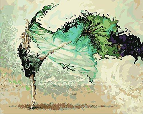 DIY Digital Leinwand-Ölgemälde Geschenk für Erwachsene Kinder Malen Nach Zahlen Kits Home Haus Dekor - Dancer 40*50 cm