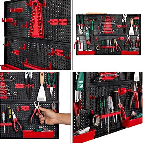 Werkzeugwand Halter rot Werkstatthalter Werkstattwand Werkzeuge aufhängen Modul