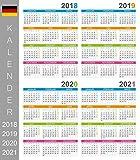 2018 2019 2020 & 2021 Deutsche Wandkalender Tage und Monate in deutscher Sprache; Großer Kalender; Projektplaner; Wandschild